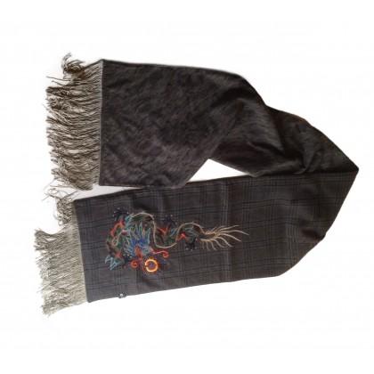 ETRO wool embellished scarf