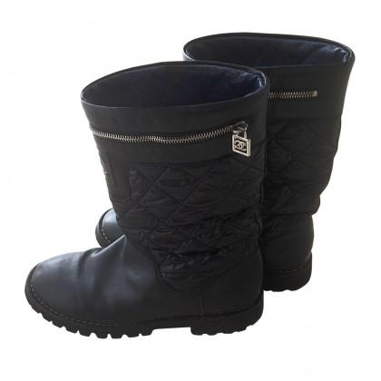 CHANEL biker boots