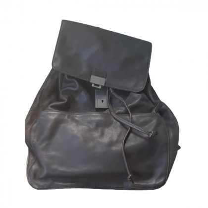 CALVIN KLEIN BROWN LEATHER BACKPACK