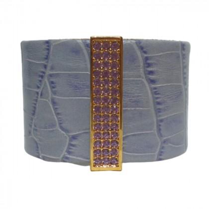 Swarovski croc effect purple bracelet