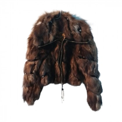 Yes London real fur jacket size IT 42