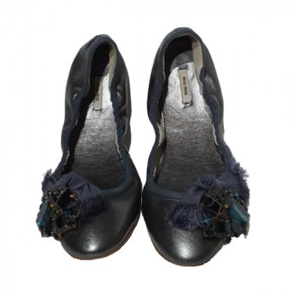 Miu Miu leather ballerina flats size IT 37
