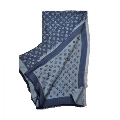 Louis Vuitton double face  silk and wool scarf