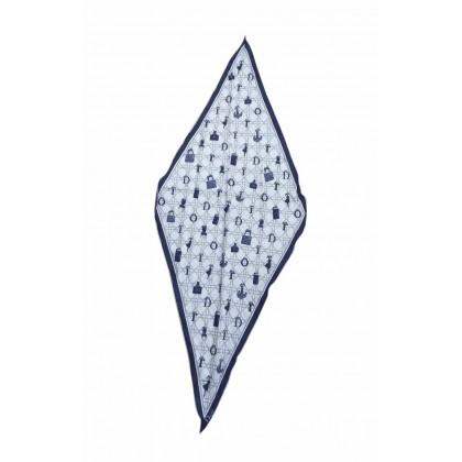 Christian Dior Logo Print Silk scarf