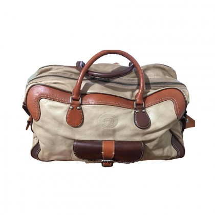 La Martina travel bag in beige leather