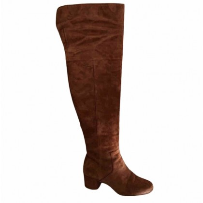 Sam Edelman camel suede over the knee boots size US 7