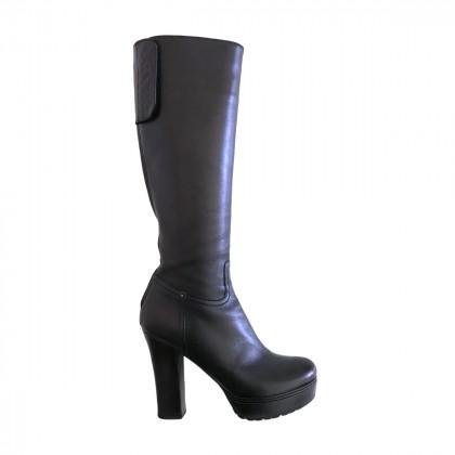 Prada platform leather boots