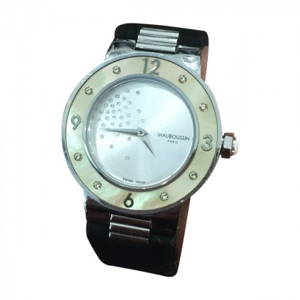 """MAUBOUSSIN ladies wristwatch"""" MONTRE MAUBOUSSIN """"AMOUR LE JOUR SE LEVE"""", DIAMANT +BOITE """""""