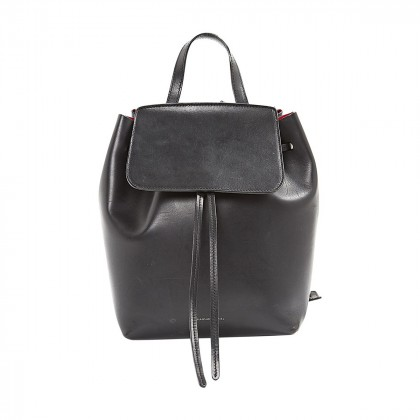 MANSUR GAVRIEL BLACK FLAP CLOSURE BACKPACK
