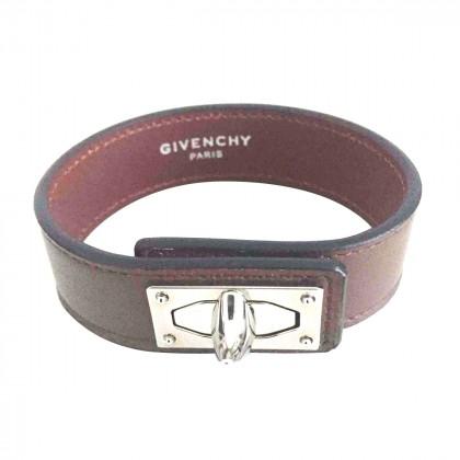 """GIVENCHY """"shark"""" brown leather bracelet"""
