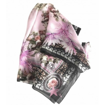 GIVENCHY silk scarf floral printed