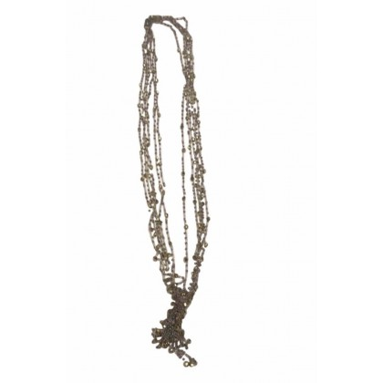 Hand made silver and gold beads neacklace