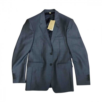 BURBERRY wool suit in blue grey