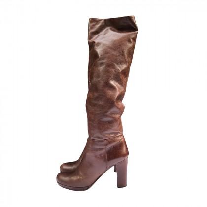 Prada high heeled brown Boots