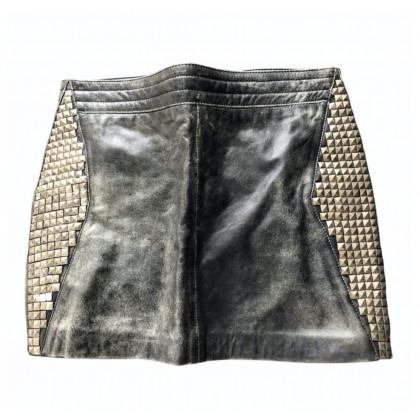 American Retro leather studded mini skirt size IT 36