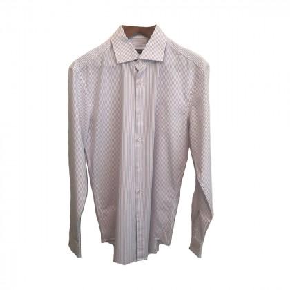 Boss White Lilac striped shirt