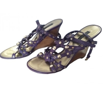 Louis Vuitton multi staple purple platform