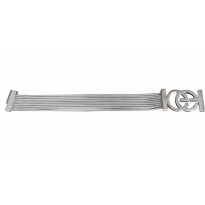 Gucci wide wire logo buckle bracelet
