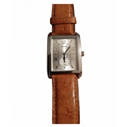 Boss watch with camel leather strap unisex model