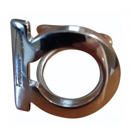 Salvatore Ferragamo ring and scarf ring size 49 logo shape