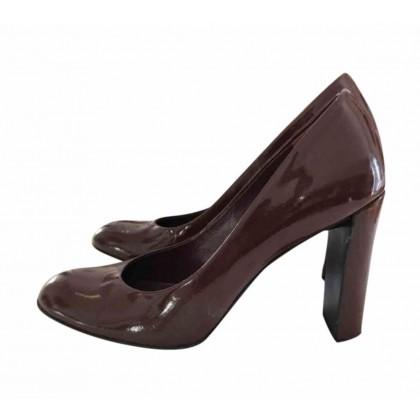 Prada burgundy patent leather heeled pumps IT39 or US9
