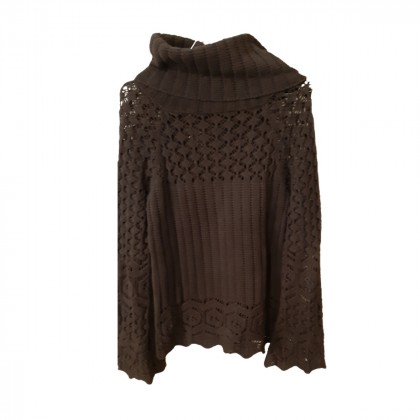 ZUCCHERO black cotton turtleneck sweater