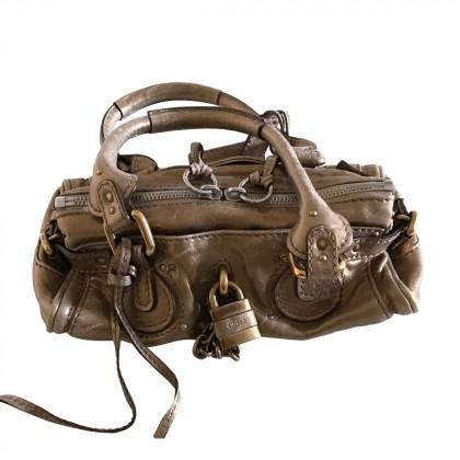 Chloe Paddington Mini Bag in Gold metallic leather