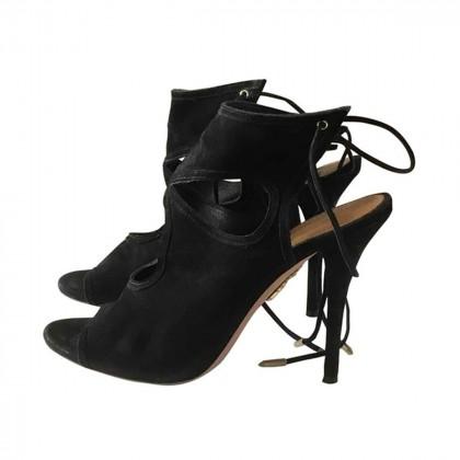 Aquazzura black suede sandals IT39