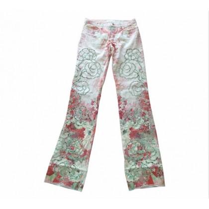 Roberto Cavalli flower print jeans size IT40