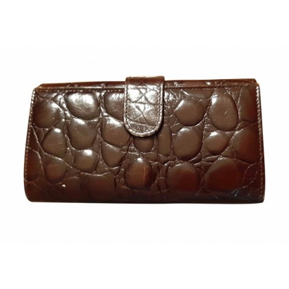 Furla brown leather continental wallet