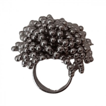Solid silver ring in Cartier style-size 53