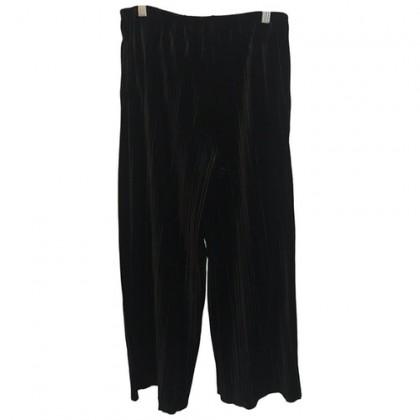 Armani Jeans Velour Black Wide Leg Trousers
