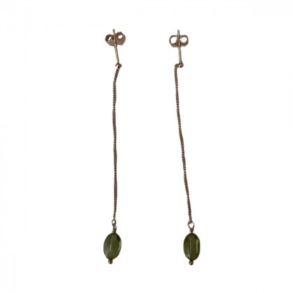 Gold and green Tourmaline Earrings