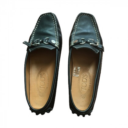 Tod's black leather loafers size IT35