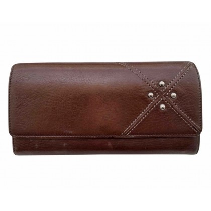 Tod's brown leather large wallet