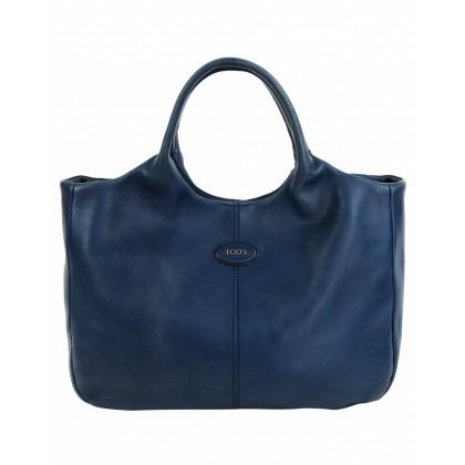 Tod's navy blue leather handbag