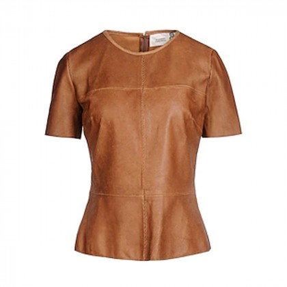 8 by YOOX Fitted leather top size M