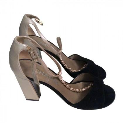 CHANEL Open toe Heel Sandals