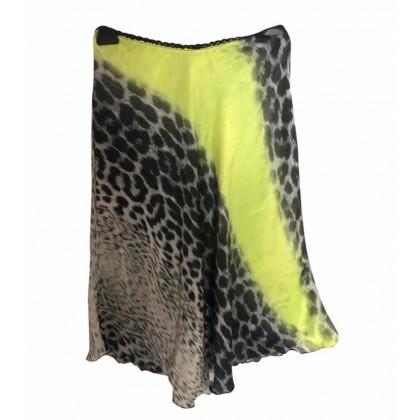 Cavalli class multicolor silk midi skirt size IT 40