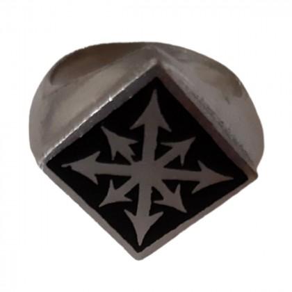 Alchemy England enamel steel ring size 55 brand new