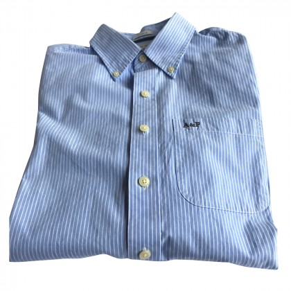 Abercrombie & Fitch striped blue shirt