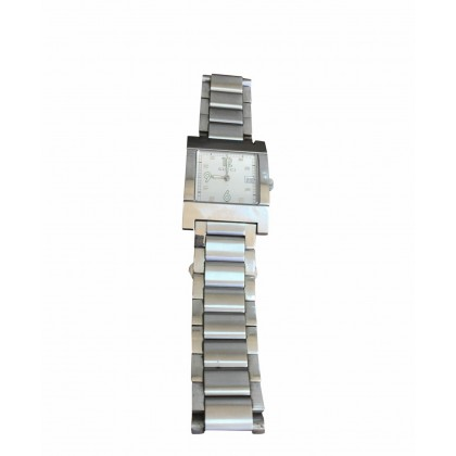 GUCCI SILVER PLATED STEEL WATCH IN THE ORIGINAL CASE