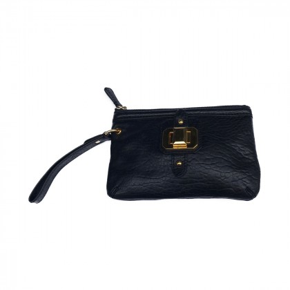 Juicy Couture Black Leather Pouch