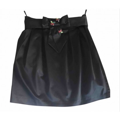 Elisabetta Franchi gold label black mini skirt size 42