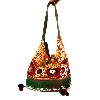 ONE VINTAGE handmade hobo bag
