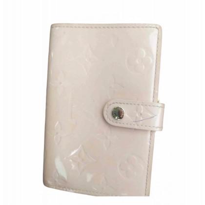 Louis Vuitton Vernis logo print light pink wallet in the original case