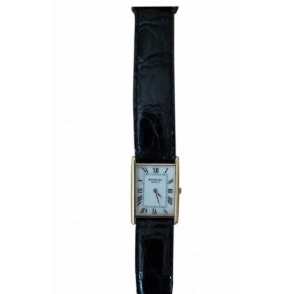 Raymond Weil black leather strap rectangular ladies watch