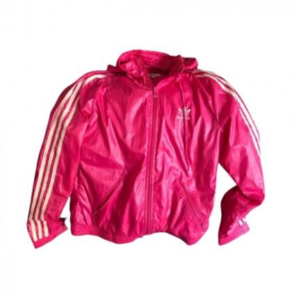 Adidas pink polyester jacket size 38