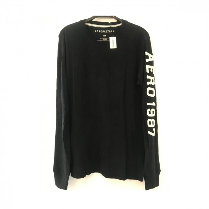 Aeropostale long sleeve black top size M