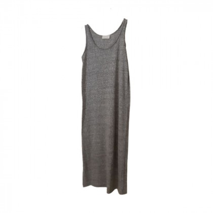 American vintage grey long cotton dress size S